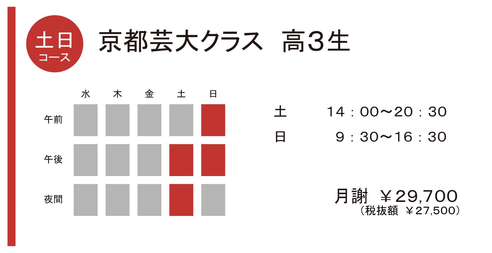 京都芸大クラス 高3生 土日コース
