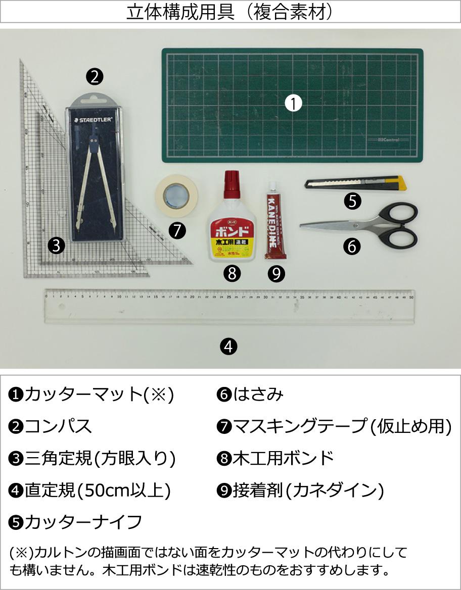 立体構成用具(複合素材)